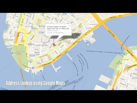 Find the Address of a Place through Google Maps