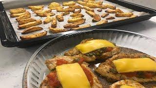 Fırında Çıtır Patates ve Soslu Tavuk Göğsü Nasıl Yapılır?/Çok Pratik Bayılacaksınız!