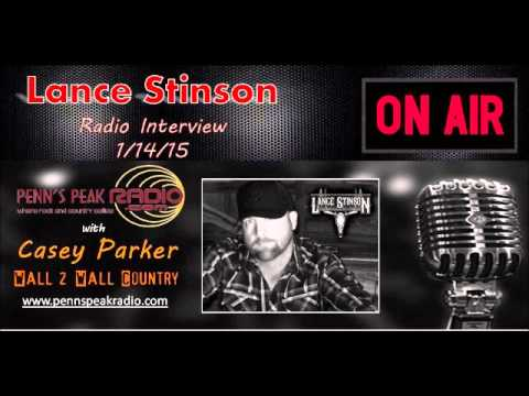 Lance Stinson LIVE! with Casey Parker @ Penns Peak Radio Interview 1 14 15