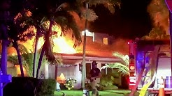 Lauderdale-by-the-Sea house fire lands 5 people in hospital, including 3 firefighters