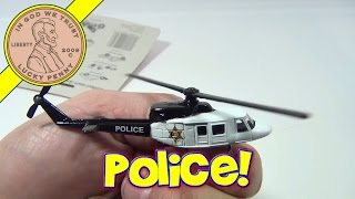 Speed Wheels Die Cast Series VII Novelty Police Helicopter Toy