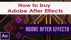 How to buy Adobe After Effects   Buying Adobe After Effects   Adobe After Effects Series