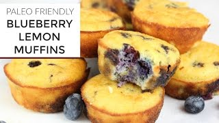 Blueberry Lemon Muffin Recipe | YouTube LIVE | Gluten Free + Paleo