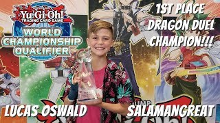 Yugioh 2019 North American WCQ Dragon Duel 1st Place Champion - Salamangreat - Lucas Oswald