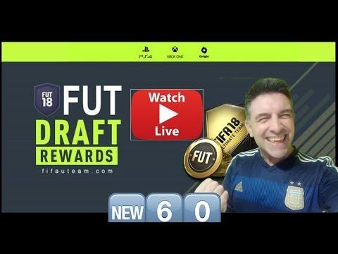 LIVE 4 in a row Fifa 18 DRAFT Glitch PACK Fun Rage #60