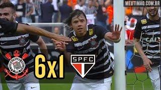 Corinthians 6x1 São Paulo - 22/11/2015 - Todos os gols