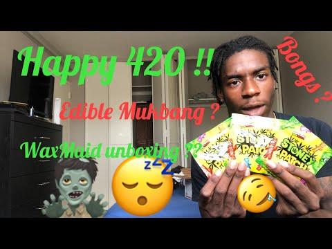 4/20 Special | 700 mg Edible Mukbang & Waxmaid Unboxing/Review