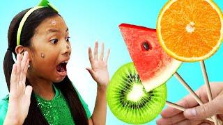 과일과 채소와 그들의 장점에 대해 배우면서 역할놀이하기