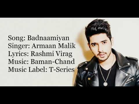 """BADNAAMIYAN"" Full Song With Lyrics ▪ Armaan Malik ▪ Hate Story IV ▪ Karan Wahi, Urvashi Rautela"