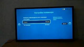 Телевізор Samsung UE32J4000 Перше включення, меню
