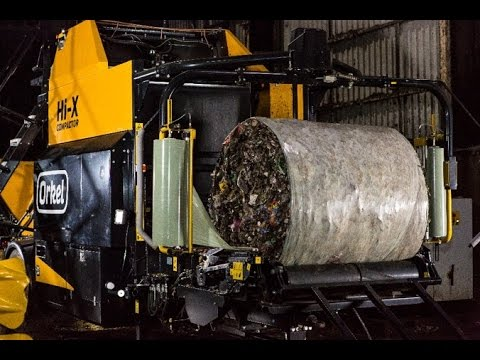 Orkel Hi-X Compactor for making roundbales of waste and bulk-material