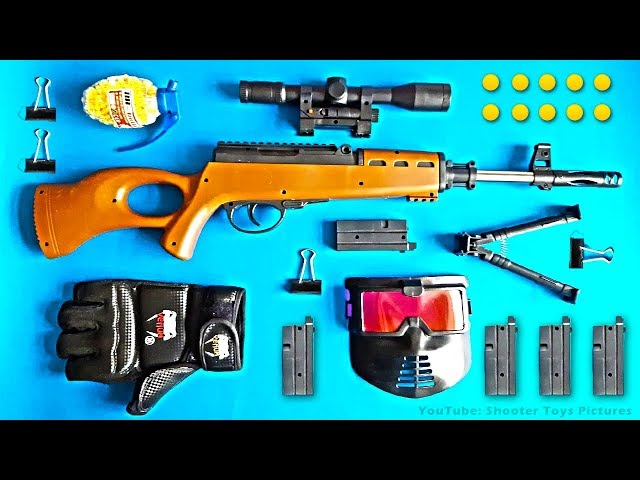 Realistic Toy Gun Plastic Ball Bullet Shooter Toy Guns Unboxing - Box of Toys for Boys