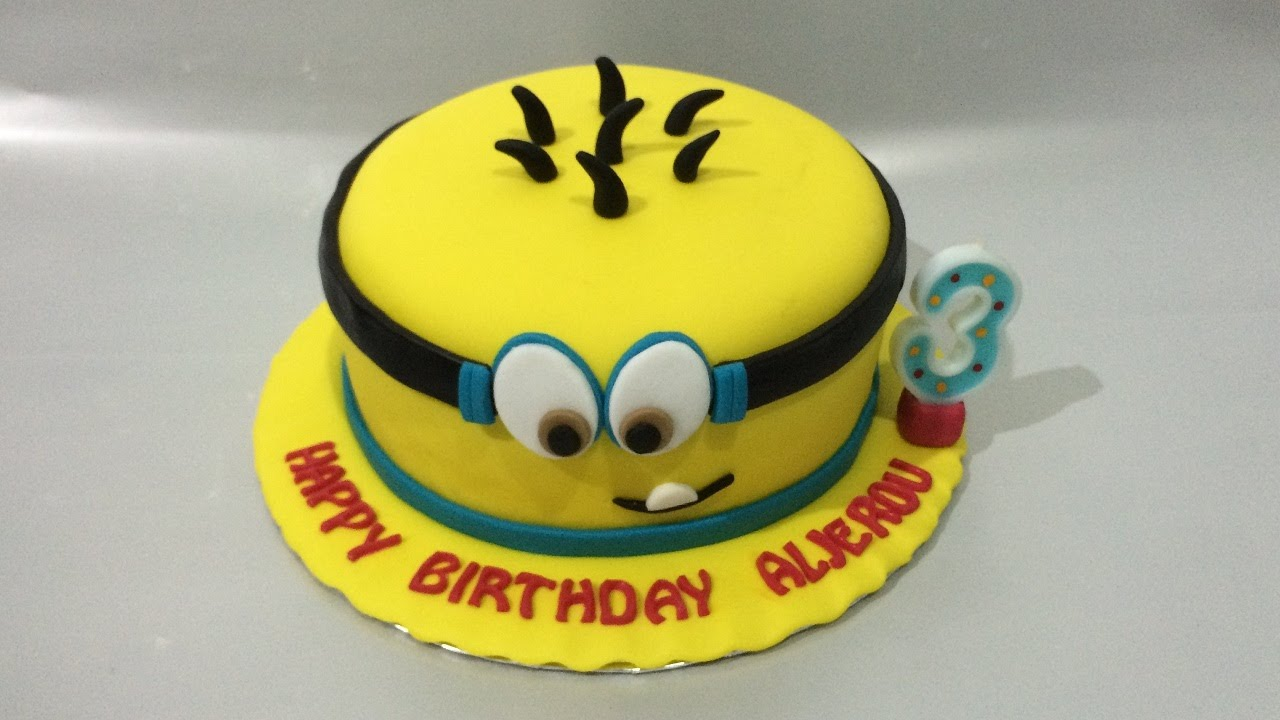 Birthday Cake Images Minions ~ Minion cake fondant how to make easy birthday cake youtube