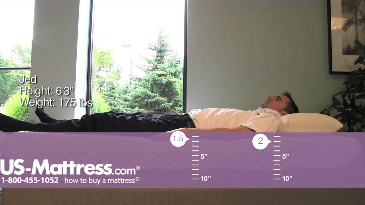 tempur cloud prima mattress comfort depth with jed youtube