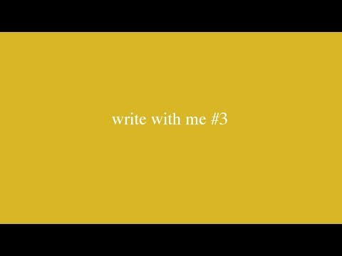 write with me #3