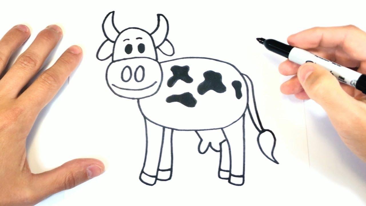 Como Dibujar Una Vaca Paso A Paso Dibujo De Vaca Youtube