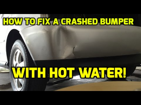 bumper repair how to fix a car bumper with hot water youtube. Black Bedroom Furniture Sets. Home Design Ideas