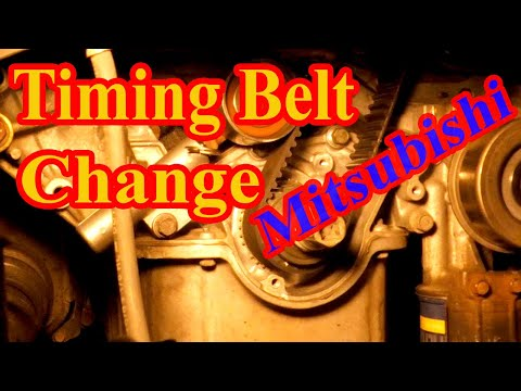 Timing Belt Change Removal And Installation On Mitsubishi Endeavor