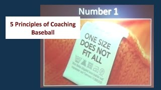 Five principles of coaching baseball