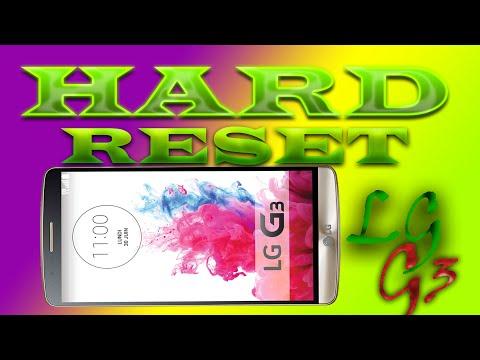 LG G3 hard reset - сброс до заводских настроек