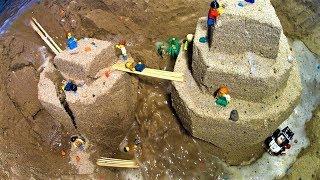 Lego Adventurers - Destroyed Piramids. Dam Breach Film