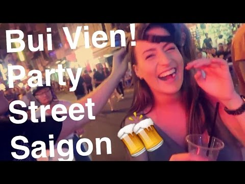 Bui Vien Beer Street: Bars, Backpackers n Bomb Street Food | Vietnam Night Life HD