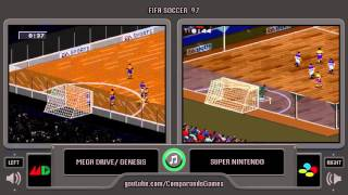 FIFA 97 (Sega Genesis vs Snes) Indoor Match Comparison