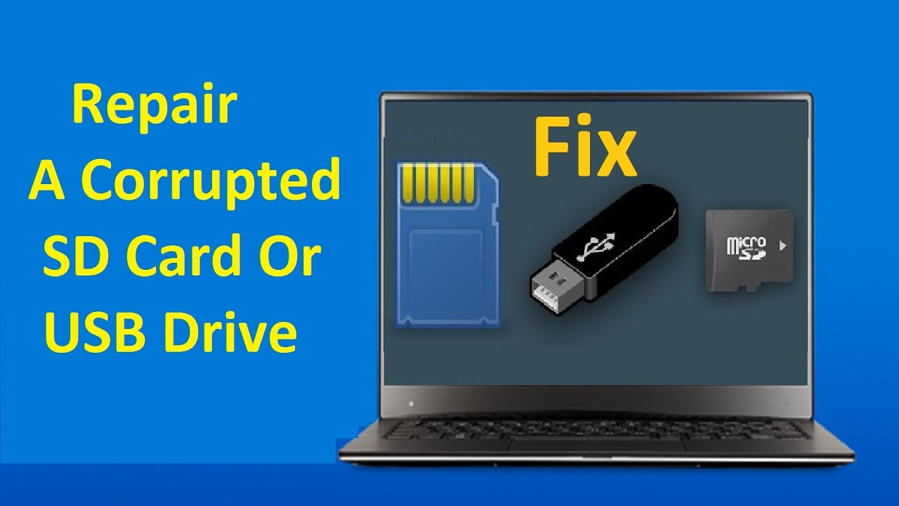 How to repair corrupted pen drive or memory card using cmd