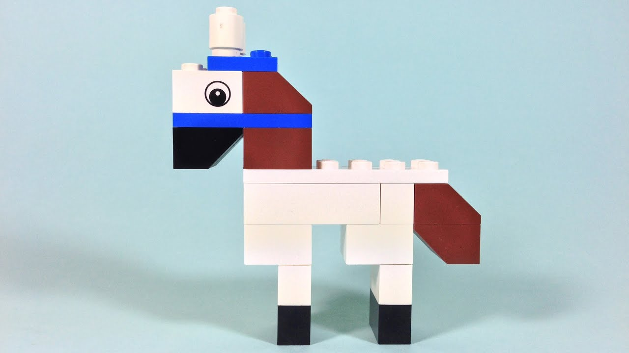 how to build lego horse 4628 lego fun with bricks building ideas for kids youtube