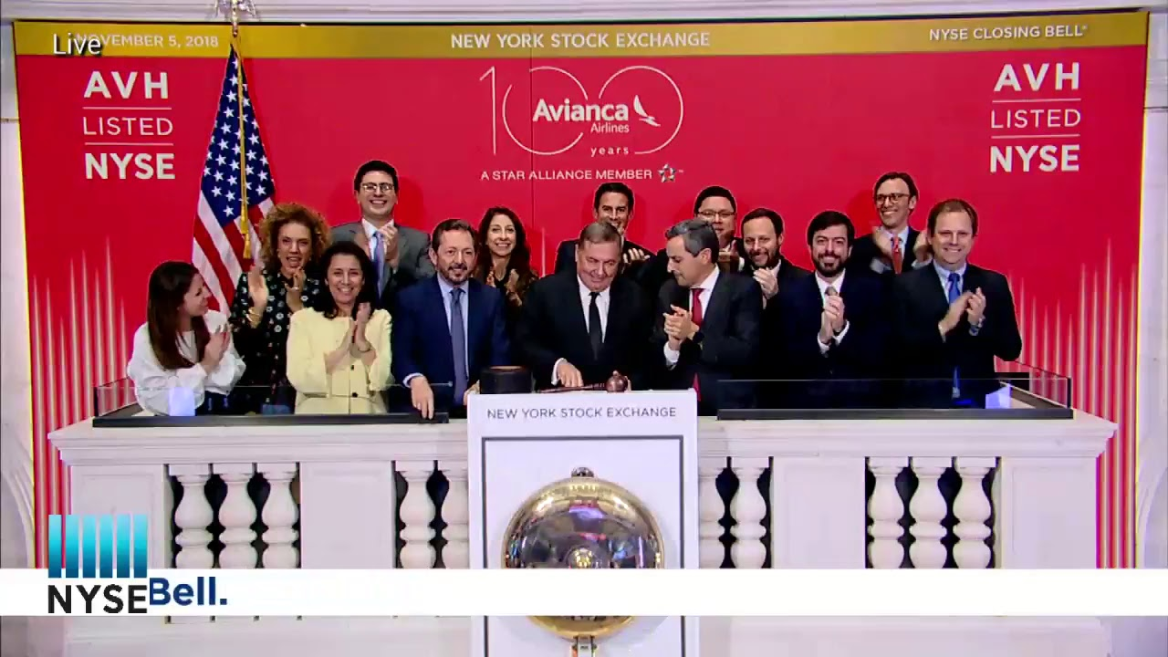 Avianca Holdings S.A. (NYSE: AVH) celebrating their 5th Anniversary of Listing