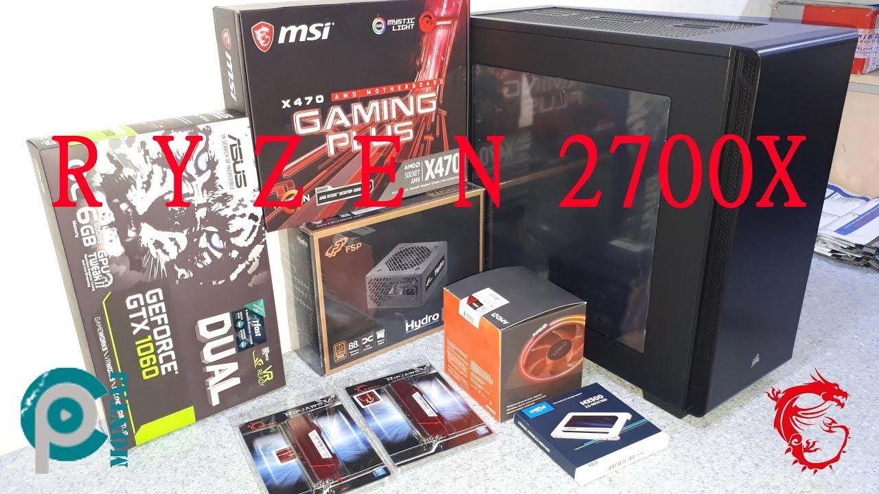 RYZEN 2700X - X470 GAMING PLUS - GTX 1060 DUAL PC MONTAJ