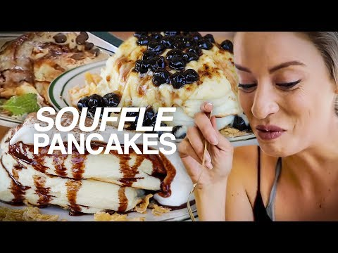 trying souffl pancakes for the first time