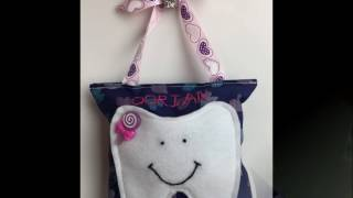 Cute Quick & Easy Tooth Fairy Pillow / DIY Video Tutorial with template