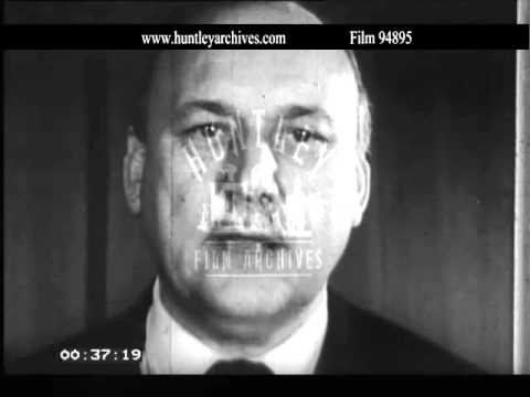 Lord Robens on coal mining safety.  Archive film 94895