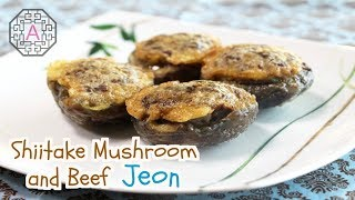 【Korean Food】 Shiitake Mushrooms and Beef Jeon (소고기 표고버섯전)
