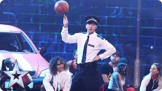 PC Dan body pops to the beat for your votes   Semi-Final 1   Britain's Got Talent 2017