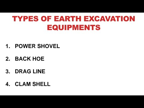 Types Of Earth Excavation Equipment And Explaination With Suitable Diagram In Hindi