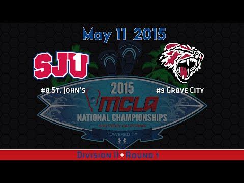 2015 MCLA National Championships: RD1: #8 St. John's v #9 Grove City