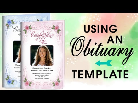 Using An Obituary Template - Obituary Program