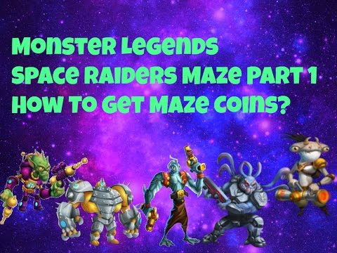 Monster Legends | Space Raiders Maze Mini Analysis | Part 1 | How to get Maze Coins?