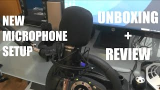 neewer nw 800 microphone unboxing and setup