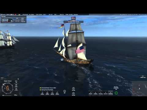 Naval Action Open World: Basic ship handling for a square rigged ship...