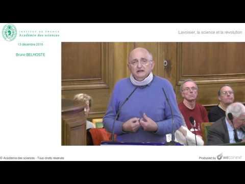 [Conférence] B. BELHOSTE - Lavoisier, La Science Et La Révolution