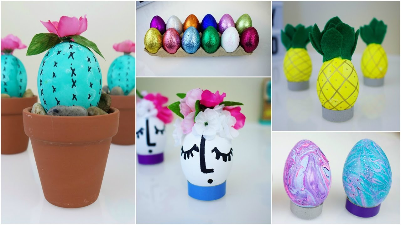 Six Cheap Easy Diy Easter Egg Designs Pinterest Inspired Youtube