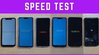 Honor 8c vs Realme U1 vs Honor 8x vs Redmi Note 6 Pro vs RealMe 2 Pro vs vs Moto One Power