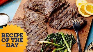 Marcela hosts a 'taquiza,' or cookout, starring Beer-Marinated Skirt Steak. Layer the thin steak with orange, onion, soy sauce and beer to marinate for the best ...