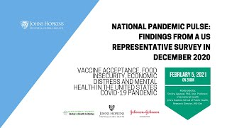 National Pandemic Pulse Round 2, Part 2: Findings from a US Representative Survey in December 2020