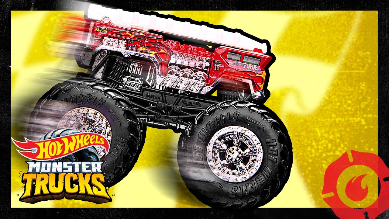Monster Trucks 5 Alarm Epic Finish Monster Trucks Hot Wheels Youtube