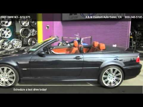 2006 bmw m3 convertible for sale in los angeles ca 90022 youtube. Black Bedroom Furniture Sets. Home Design Ideas