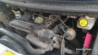 Как дизель запускается и глохнет при раннем впрыске топлива, Ford Transit 2.4TD D2FA